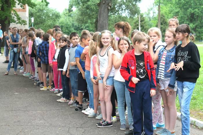 лагерь, дети, лето, отдых