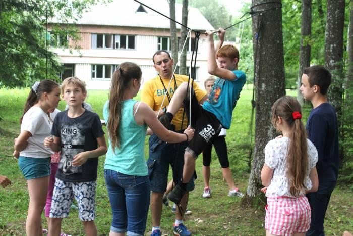 спорт, лагерь, дети, лето