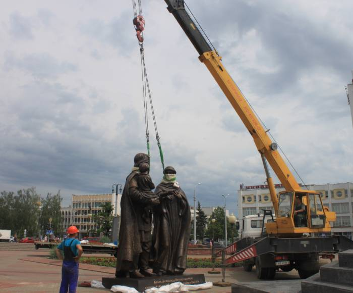 витебск, невский, памятник, открытие