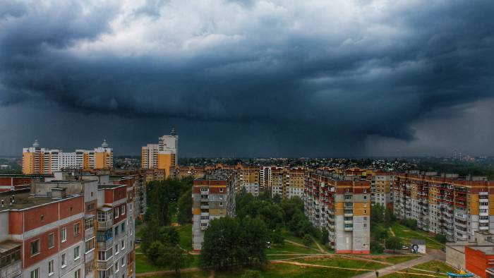 Фотофакт, дождь,витебск,крыша