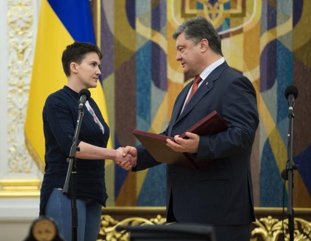 Савченко, Порошенко, Украина, Корженевский