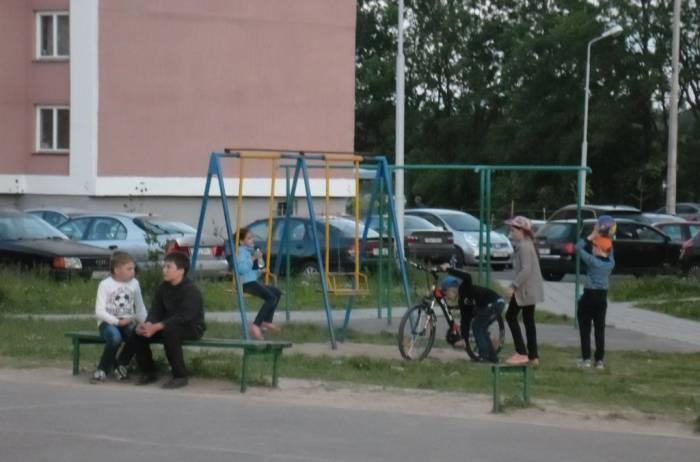 витебск, детская площадка, дети
