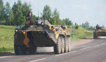 Военная техника возле Лукомльской ГРЭС. Фото Анастасии Вереск
