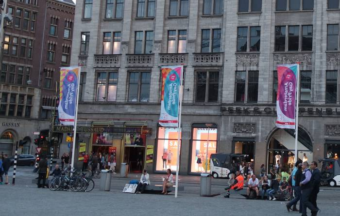 Флаги ЛГБТ-сообщества, Амстердам. Фото Анастасии Вереск