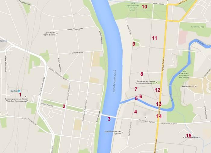 карта центр витебска
