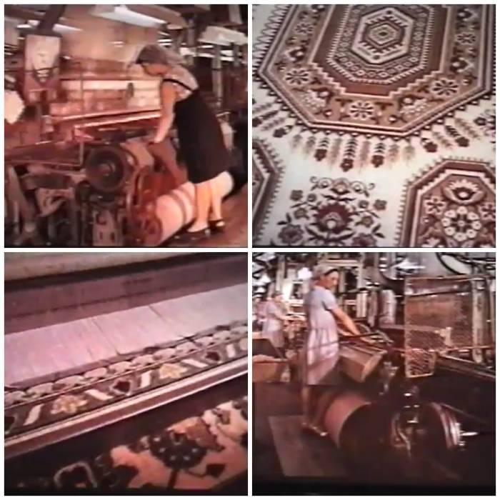 """""""Ковровый комбинат"""". Кадры из фильма """"Город моей судьбы"""" (1974), коллаж автора"""