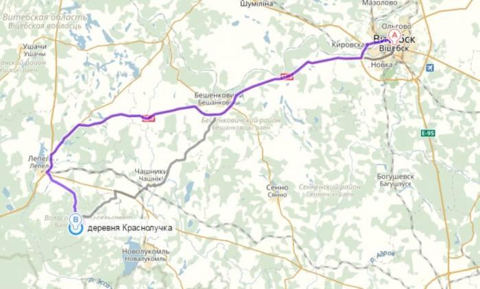 Как доехать до деревни Краснолучка
