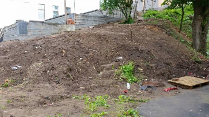 Пока на улице Марка Шагала не очень чисто. Фото: Аля Покровская