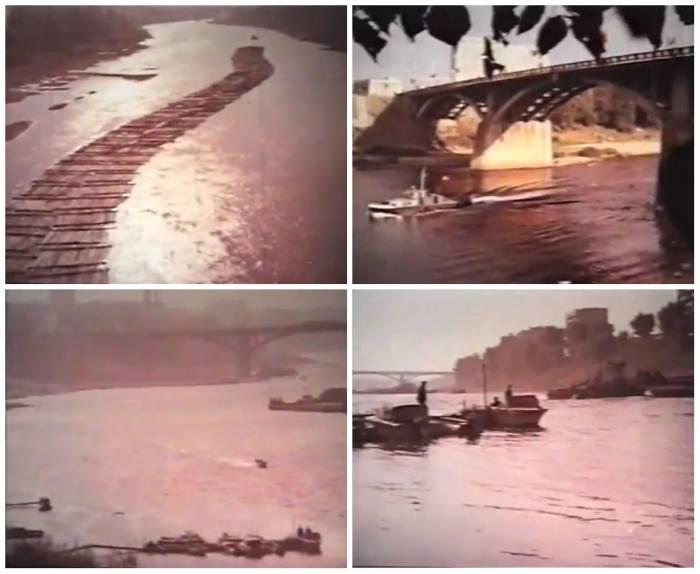 """Западная Двина активно использовалась городом. Кадры из фильма """"Город моей судьбы"""" (1974), коллаж автора"""