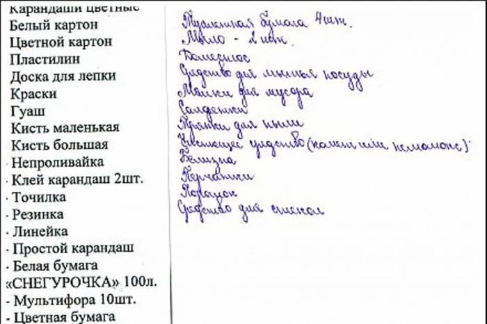 Эдварда Радзинского список канцтоваров в садик свидание
