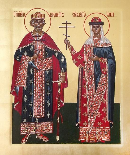 Святые Ольга и Владимир. Фото liveinternet.ru