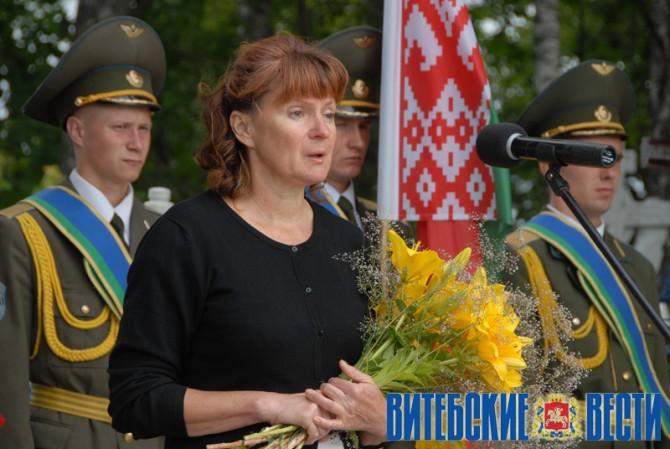 Супруга Александра Атясова. Фото vitvesti.by