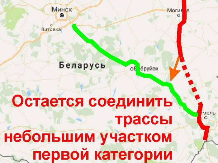 Автобан на Витебск- 07 - объехать деревни