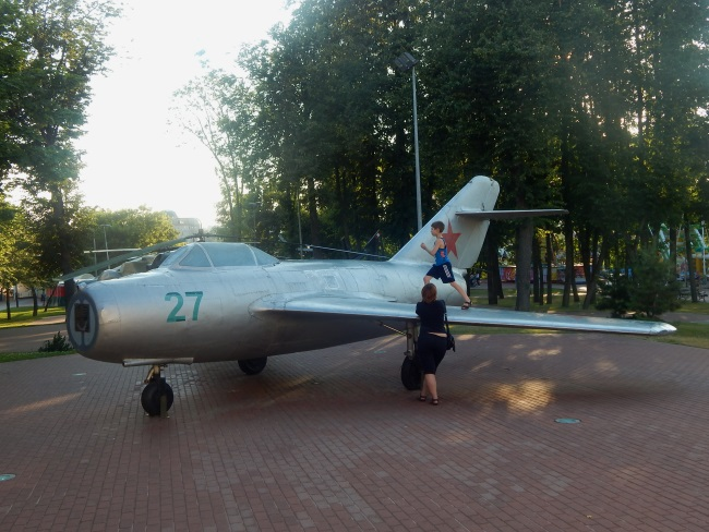 самолет, парк победителей