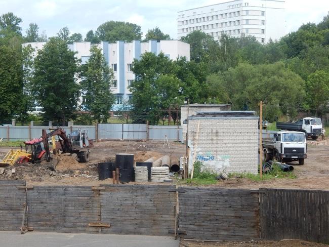 улица труда, строительство
