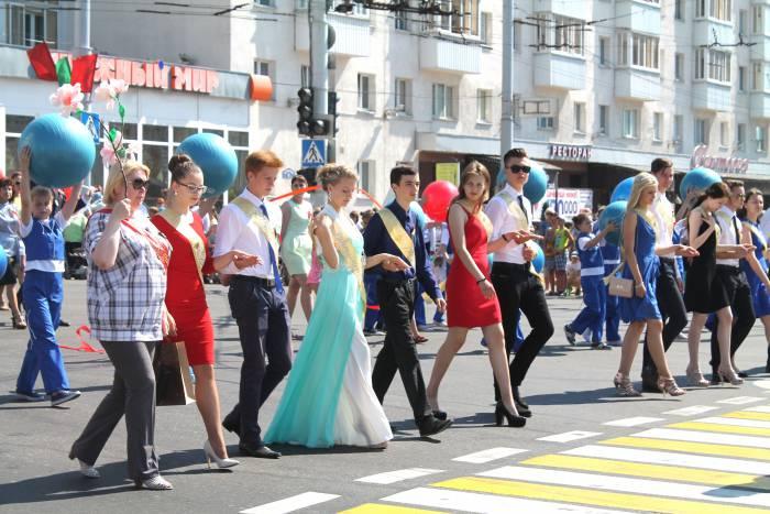 школьники, витебск, парад