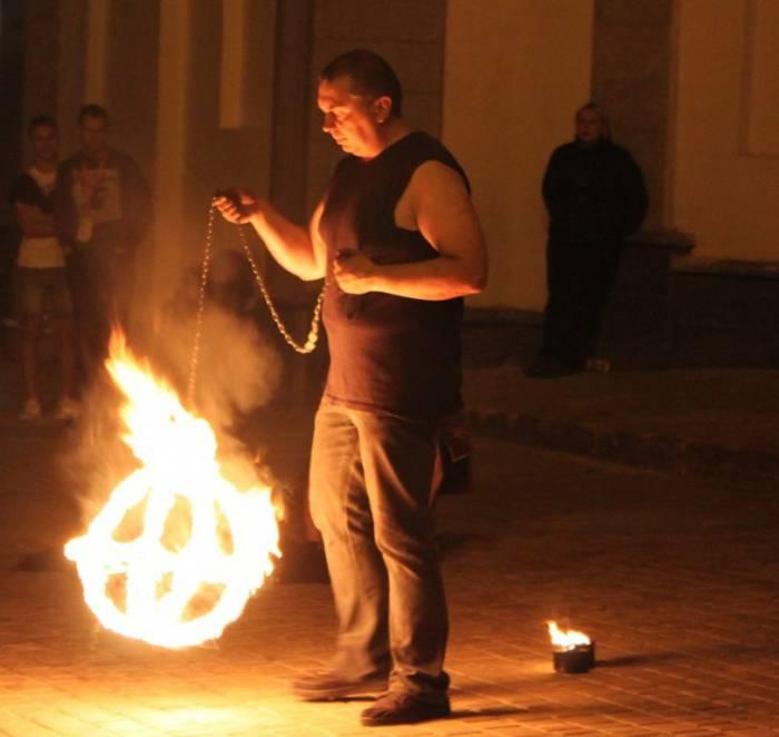 витебск, славянский базар, огненное шоу