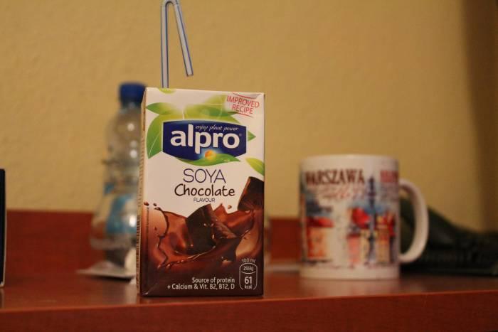 Соевое молоко с шоколадом. Фото Аня Щербицкая