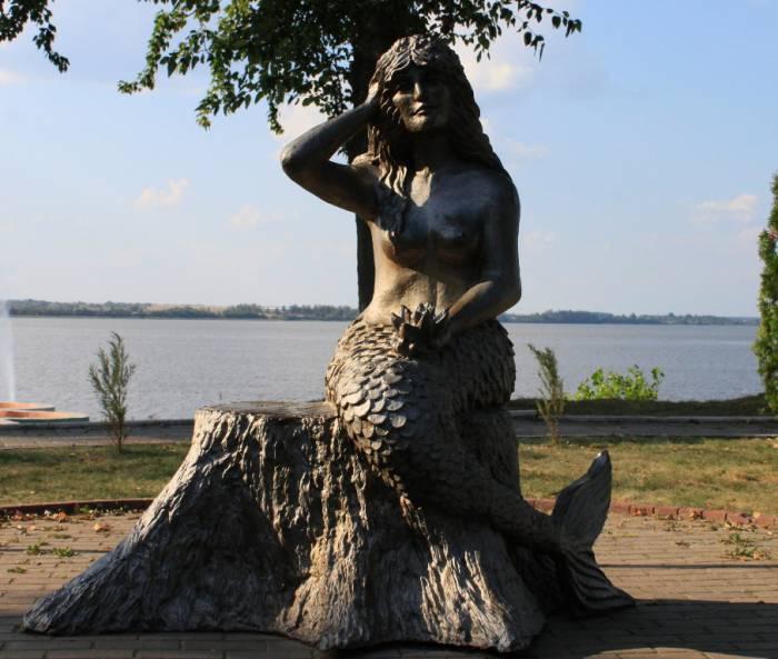 лепель, витебская область, скульптура русалки