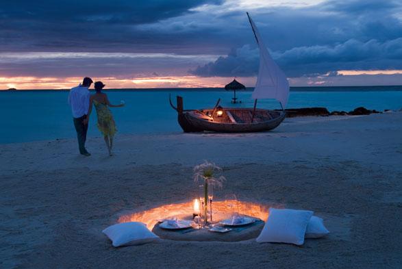 Романтика на Мальдивах повсюду. Фото santaur.ru