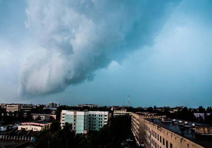 Завихрение из туч над Новолукомлем. Фото Анастасии Вереск