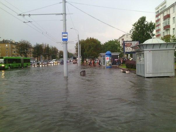Улицы столицы после дождя. Источник фото: соцсети