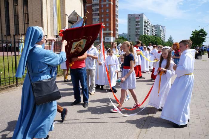 Построение процессии. Фото Алена Евдокимова