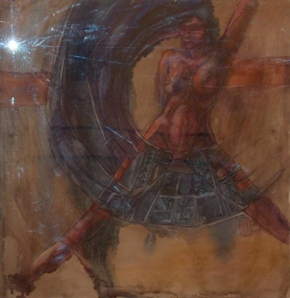 Болтрушевич, акварель, танец, ритуал, женщина, Шакти, Корженевский