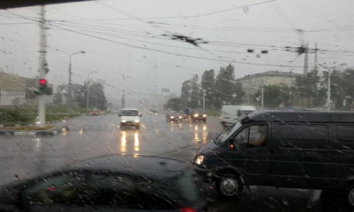 дождь, витебск, движение авто