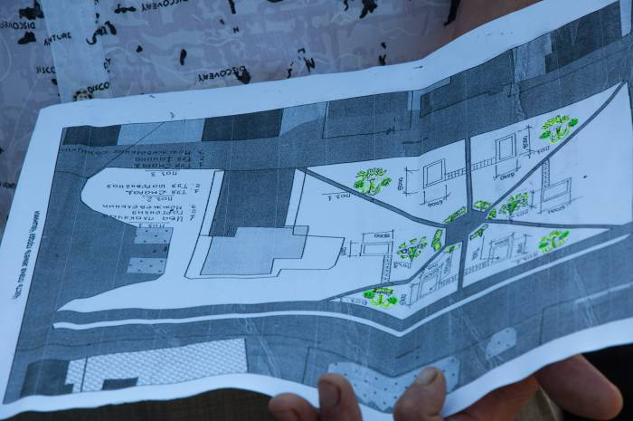 План благоустройства парка: симметрично расположенные оружия будут смотреть дулами в центр площади. Фото Анастасии Вереск