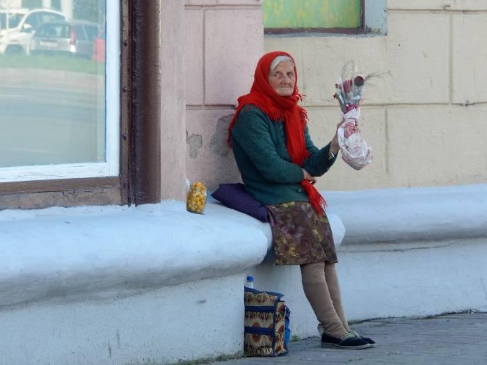 бабушки, уличная торговля