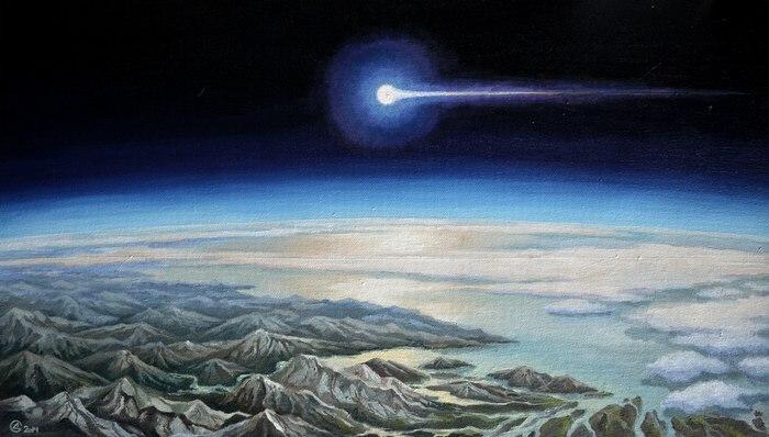 Сухинин, космос, эивопись, Корженевский