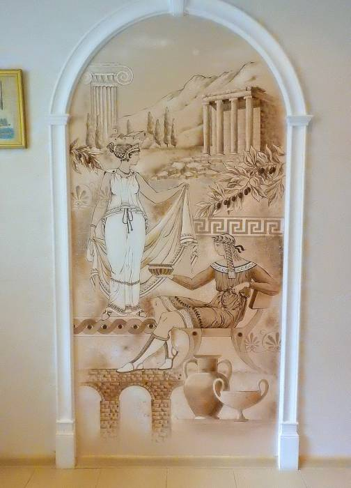Кухня. Роспись стены. Фото Светланы Васильевой