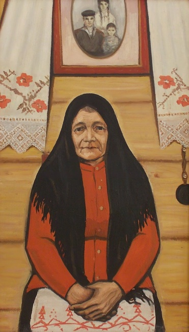 Ткачев, мать, мама, портрет, живопись, Корженевский