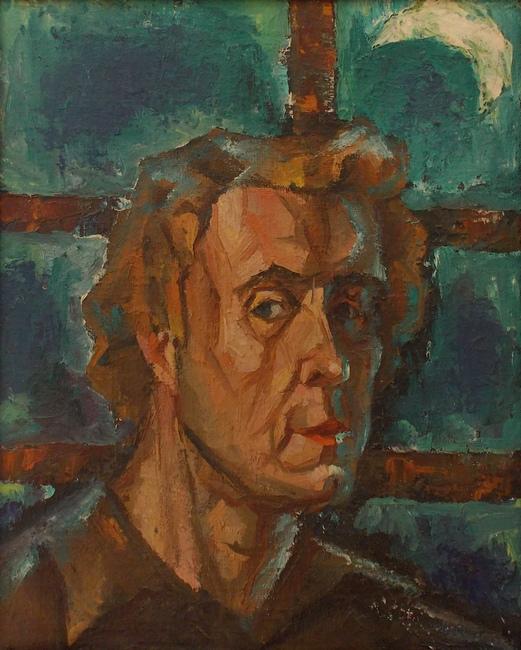 Лебедко, автопортрет, живопись, Корженевский