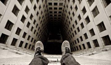 суицид, прыжок с крыши