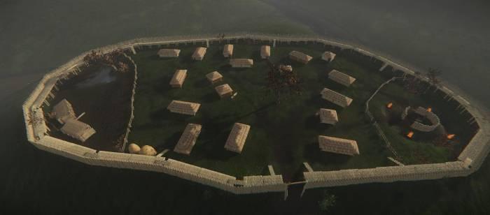 3D реконструкция балтского поселения на горе Ломиха. Фото из личного архива Дениса Юрчака