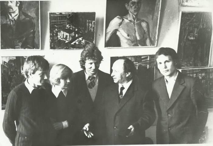 Хаим Лившиц со студентами института В Минске. 1976 год. Фото chaimilivchitz.com