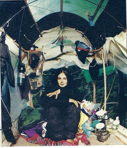 Джулия Хилл и ее импровизированный дом. Источник: соц.сети
