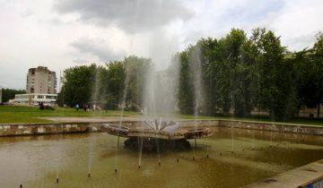Фонтан в Новолукомле до начала реконструкции. Фото: соцсети