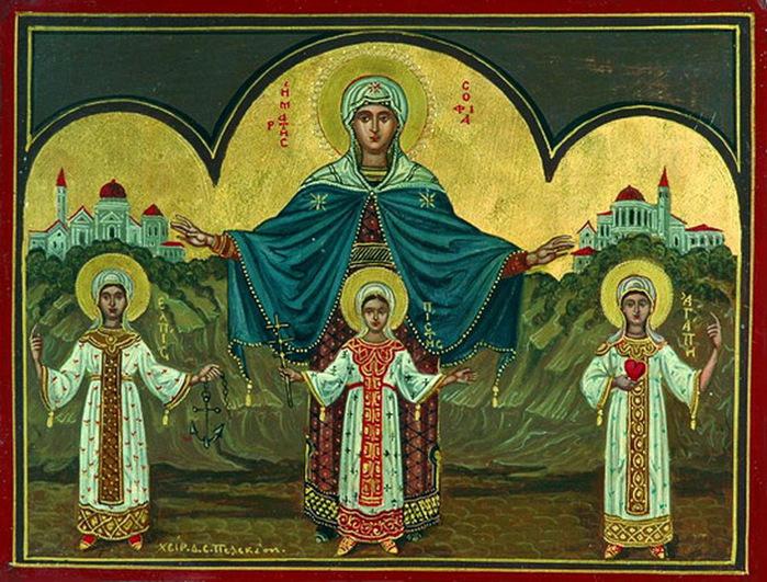 Святые сестры и мать их София. Фото tatarstan-mitropolia.ru