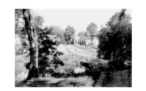 """Мост между окраиной парка и усадьбой в Межево. Из книги А.Н. Шинкевича """"Очерки о земле Оршанской"""""""