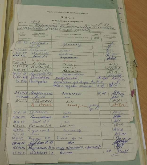витебск, архив, документы