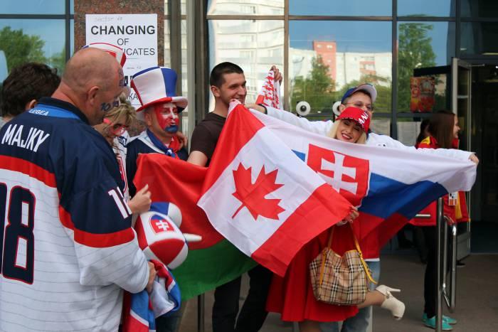 Болельщики на Чемпионате мира по хоккею в Минске