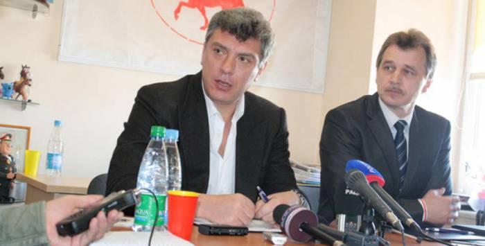 Борис Немцов и Анатолий Лебедько. Фото euroradio.fm