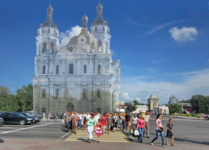 Николаевский собор. Фотопроекция Виктора Борисенкова