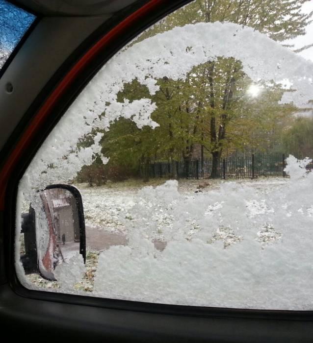 Снег, город почти ослеп…