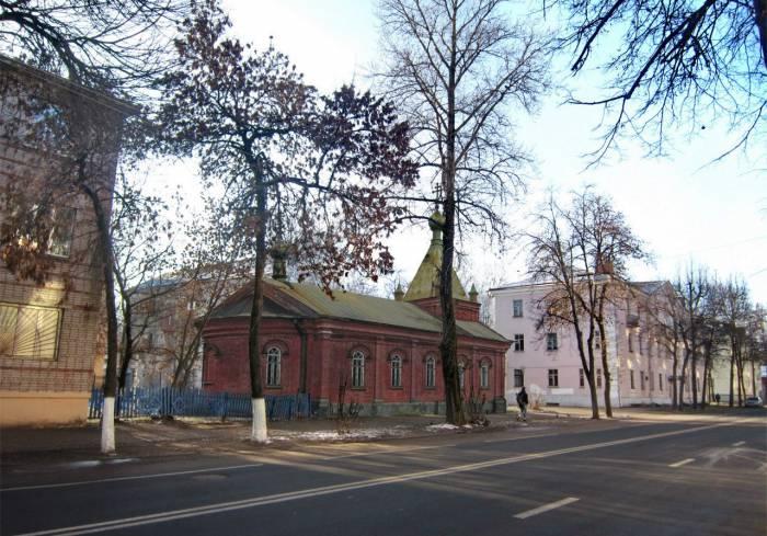 Церковь во имя Рождества Богородицы. Фотопроекция Виктора Борисенкова