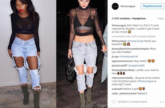 Слева Shay Cherise и ее самодельные сапоги за 5$, справа - сапоги от Yeezy за 895$