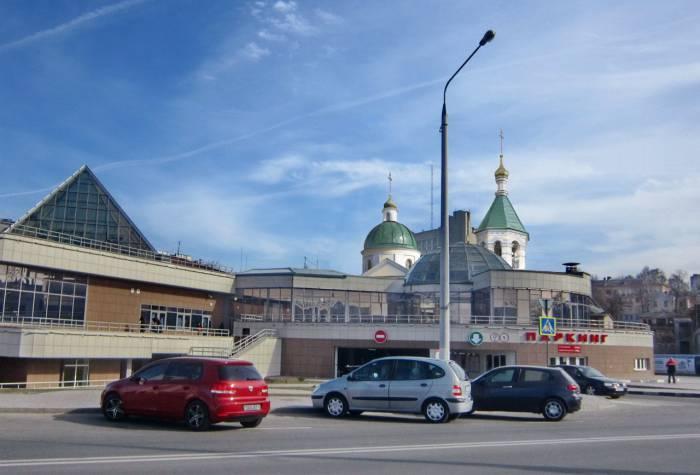 Церковь Рождества Христова. Фотопроекция Виктора Борисенкова